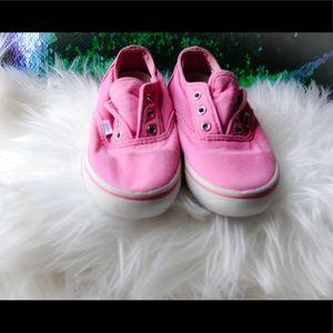Pink Vans toddler shoes